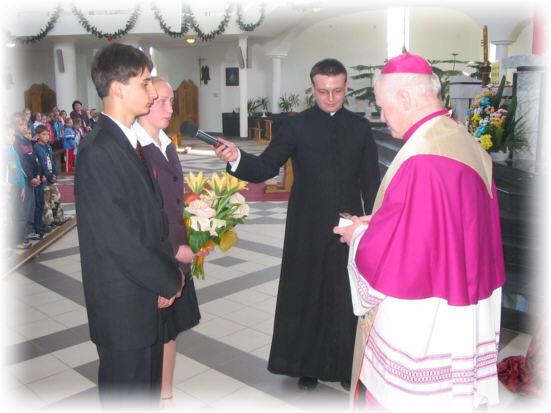 Spotkanie z dzie�mi i m�odzie�� SP nr 1 i Gimnazjum w Domaradzu